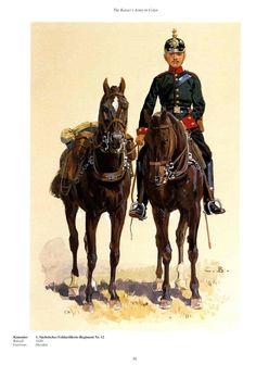 German; 12th(1st Royal Saxon) Field Artillery Regiment, Gunner c.1900. Raised 1620. home Depot Dresden, XII Army Corps