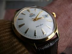 Orient Bambino in Gold Tone - www.orientwatchusa.com/er24003w