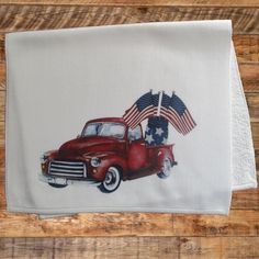 282a805f2 Red Truck Towel, Patriotic Hand Towel, Mason Jar, Flags Hand Towel, Red  Vintage Truck, Old Red Truck, Hand Towel, Farmhouse, Hostess Gift