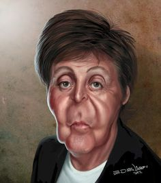 Funny Caricatures, Celebrity Caricatures, Beatles Art, The Beatles, Cartoon Faces, Funny Faces, Tango, Famous Cartoons, Caricature Drawing