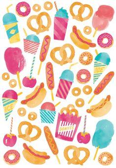 Carnival Food  Art Print