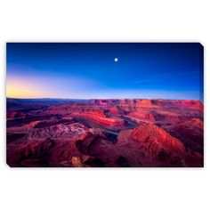Gallery Direct Dfikar's 'First Light at Dead Horse Canyon' Gallery Wrap