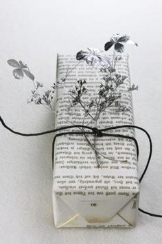 Helga Noack newspaper and floral wrap
