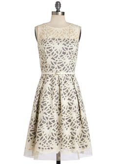 Map to Marvelous Dress. Youre sure to find your way to pure elegance by donning this ivory dress!  #modcloth