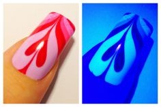ULTRAVIOLET VALENTINES DAY HEART ★ UV Water Marble Nail Art Tutorial ★
