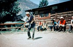 Dude ranch, Wyoming, 1935