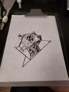 Geometric : Bear in geometry Geometric Bear Tattoo, Geometric Tattoo Meaning, Geometric Tattoos Men, Triangle Tattoos, Small Tattoos With Meaning, Small Tattoos For Guys, Tattoo Small, Line Tattoos, Sleeve Tattoos