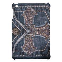 bejeweled jean pockets diy | Faux Bejeweled Denim Pocket iPad Mini Case -cute! http://www.zazzle ...