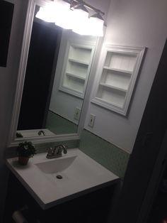 Built In after removing medicine cabinet
