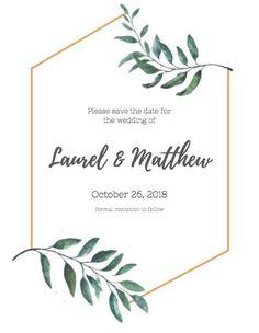 Floral Wedding Invitations, Wedding Stationary, Karten Diy, Floral Border, Grafik Design, Invitation Cards, Wedding Designs, Save The Date, Wedding Cards
