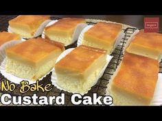 Ingredients for Steamed Custard Cake CARAMEL : 2 tbsp White sugar CUSTARD : 2 whole Eggs cup Condensed milk cup Evaporated milk 1 tsp Calamansi juice. Flan Cake, Custard Cake, Custard Filling, Custard Recipes, Baking Recipes, Cake Recipes, Dessert Recipes, Bread Recipes, Steamed Bread Recipe