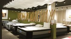 [From our March 2014 showroom] Our relaxing mattress section. Ottawa BrandSource Home Furnishings, Ottawa Ontario