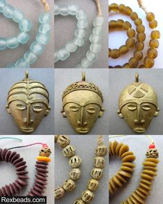 Check out our newest inventory of fine quality, antique and vintage African beads.  Rexbeads.com glass beads brass pendants ashanti beads  brown umber brass beads