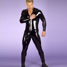 2015 Cheap Men And Women Same Style Sexy Sets Latex Catsuit Long Sleeve Front Zipper Bodysuit Halloween Black Costume Free Delivery From Angetina, $21.99   Dhgate.Com