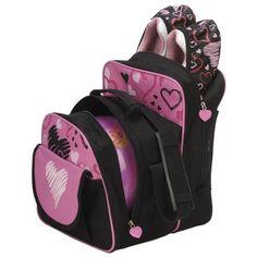 04a18e7349 Brunswick Image Hearts All Over Bowling Bag- Pink Black