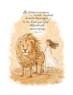 Wall Art - Be Strong and Courageous Wall Art for Girls - Nursery wall art - Narnia Inspired
