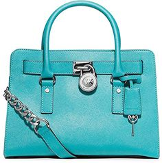 MICHAEL Michael Kors East West Hamilton Satchel in Aquama-$268.00