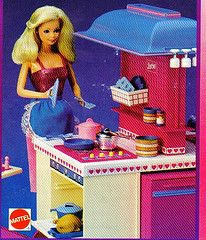 1985 UNK Catalog / Booklet Page Section - 1984 Barbie Dream Kitchen Playset 9119 - with Accessories pieces) - Fresh Vanilla Scent - For Dream House Dreamhouse glamorous entertaining - Mattel Barbie Playsets, Barbie Toys, Barbie I, Barbie Dream, Barbie World, Barbie And Ken, Barbie Stuff, Vintage Barbie, Vintage Dolls