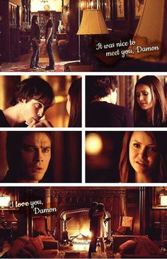 Delena: first scene and first confession
