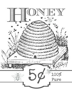 Free Vintage-Inspired Honey Label Printable - Jennifer Rizzo