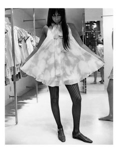 Published August 15, 1967    Singer-actress Cher went shopping with photographer Arnaud De Rosnay to capture this image, which appeared in the August 15, 1967, Vogue.