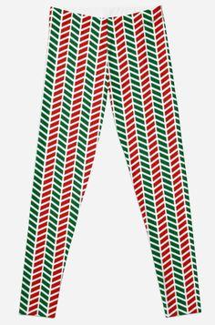 'Red and Green Merry Christmas Pattern Dress' Leggings by Best Leggings, Dresses With Leggings, Printed Leggings, Artwork Prints, Knitted Fabric, Dress Patterns, Merry Christmas, Knitting, Green