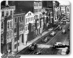 Şişli - Halaskargazi caddesi - 1958 Istanbul City, Istanbul Turkey, Old Pictures, Old Photos, Istanbul Pictures, Turkey History, Poster City, Ottoman Empire, Historical Pictures