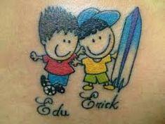 Resultado de imagen para tatuagem+menino+e+menina+palito