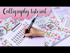Calligraphy writing: In this tutorial video I will show you how to write calligraphy fonts for beginners. Calligraphy templates f. Calligraphy Templates, Calligraphy Tutorial, How To Write Calligraphy, Calligraphy Fonts, Adult Coloring Pages, Filofax, Bullet Journal, Printables, Letters