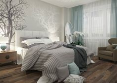 Sleep better thanks to Feng Shui: This is how you optimally furnish your bedroom! - Sleep better thanks to Feng Shui: This is how you optimally furnish your bedroom! – Feng Shui for - Dream Bedroom, Home Bedroom, Serene Bedroom, Whimsical Bedroom, Bedroom Ideas Master For Couples, Soft Grey Bedroom, Beautiful Bedrooms For Couples, Adult Bedroom Ideas, Adult Bedroom Design