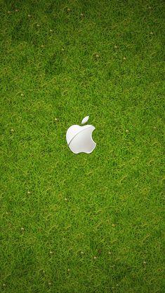 芝生上のAppleロゴ iPhone5 スマホ用壁紙   WallpaperBox   スマホ壁紙/iPhone待受画像ギャラリー