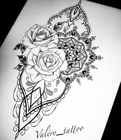 With daffodils instead of roses . - Flower Tattoo Designs - - With daffodils instead of roses …. Mandala Tattoo Sleeve, Mandala Tattoo Design, Flower Tattoo Designs, Flower Tattoos, Sleeve Tattoos, Tattoo Femeninos, Tattoo Trend, Lace Tattoo, Tattoo Quotes