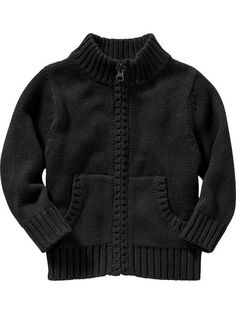 Uniform Zip-Front Sweaters for Baby Product Image