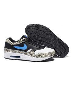 c73c3fdeee0 Men s Nike Air Max 1 Shoes Black White Leopard Sale