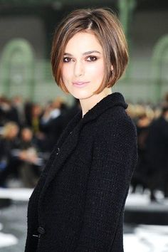 This chic bob is perfect for slimming a round face but looks great on  everyone! d6781817b88