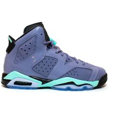 Air Jordan 6 Retro GG PS Iron Purple ❤ liked on Polyvore featuring sneakers and shoes