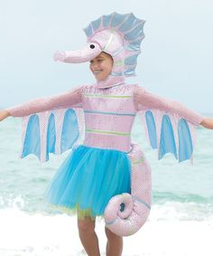 Sparkly Seahorse Dress - Girls | zulily