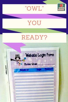 I have been working on some super cute classroom forms for everyone, all with a fun owl theme! Here are some free website login forms for you to use! Owl Theme Classroom, Classroom Freebies, Teacher Worksheets, Worksheets For Kids, Teaching Skills, Teaching Ideas, Websites For Students, Teachers Toolbox, Classroom Organization