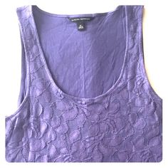 Banana Republic Lace tank Floral lace, was labeled as blue, but looks more like lavender. Cute with skinny pants or tucked in a skirt :) Banana Republic Tops Tank Tops