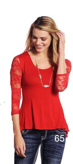 Red Feelin Good Knit: Sierra Western Wear