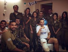 Golani soldiers!!!! My son Nike visited Golani soldiers in hospital  wounded from Protective Edge July 2014