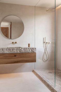 Nautical Bathroom Decor, Modern Bathroom, Bathroom Niche, Colorful Bathroom, Minimal Bathroom, Master Bathroom, Bathroom Ideas, Remodled Bathrooms, Ada Bathroom