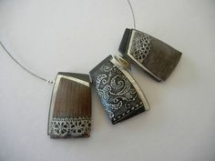 Greek Lace | Polymer clay, aluminium foil and pewter beads … | Flickr - Photo Sharing!