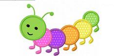 Caterpillar Applique, broderie Machine Design non : 0028 Applique Quilt Patterns, Applique Embroidery Designs, Machine Embroidery Applique, Hand Embroidery, Elephant Applique, Felt Owls, Baby Sewing Projects, Quilting Projects, Machine Design