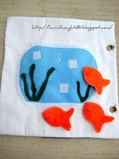 Quiet book page ideas: fishbowl