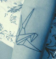 so wonderful - origami tatoo