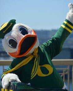 BEST MASCOT EVER - THE OREGON DUCK!