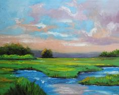 Beautiful Painting of a marsh