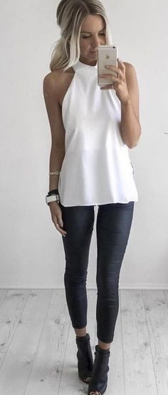 #summer #fun #outfitideas | Black and White …                                                                                                                                                                                 More