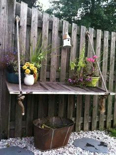 Attach old door to fence